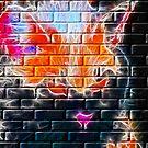 Spooky Hallowe-en Cat on a Brick Wall by MaeBelle