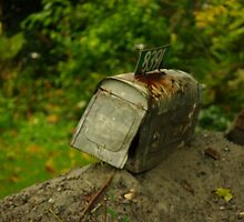 Another Mail Box Hits the Dirt.... by Larry Llewellyn
