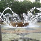 Fountain in Old Charleston by CarolLeesArt