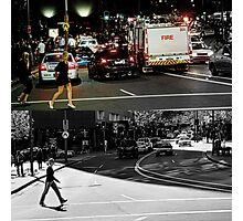 Like Night and Day - Crossing - 2009 Portfolio Project Photographic Print