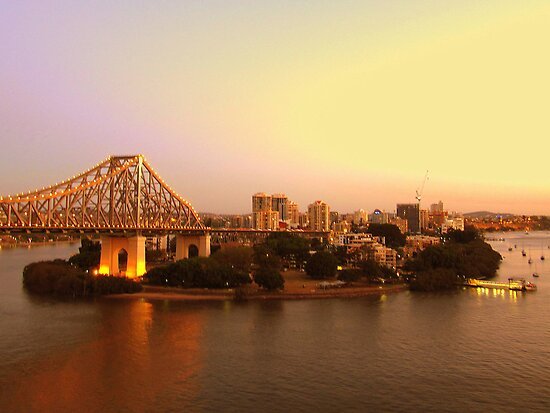 Kangaroo Point, Brisbane by Sherene Clow