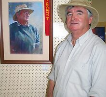 The Subject with the Painting (Alan Coulson) by Lynda Robinson