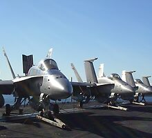 Fighter Jets USS Kitty Hawk by artisticpurple