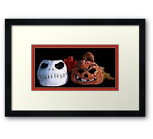 HAPPY HOLLOWEEN Framed Print