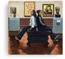 Back to Back - art museum Canvas Print