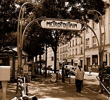 metro sign paris by Jo  Kyles