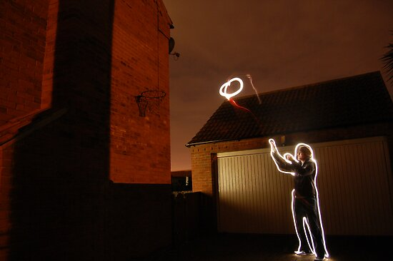 shooting hoops by Tom Smart