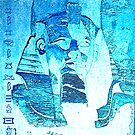Ramses in Horus blue light (end of egyptian series ) by Marilyns