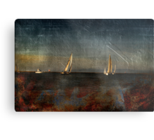 Ship Building in The Bay  Metal Print