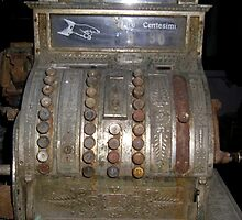 A rusty very old Calculator Machine by sstarlightss