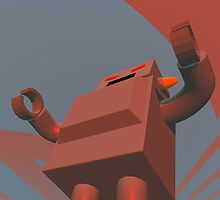 Retro Style Robot 3 by mdkgraphics