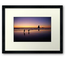 When the sun goes down the rock spirits play Framed Print