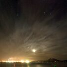 Marsden point at night panoramic by Paul Mercer