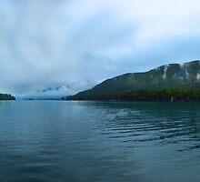 A misty morning on Lake George, NY by Shubhankar Ray