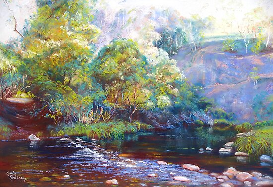 Tunnel Bend - Howqua River by Lynda Robinson