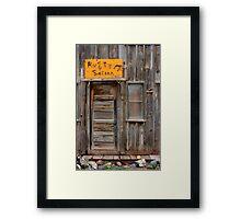 Rusty Saloon Framed Print
