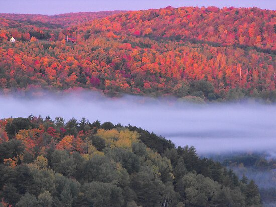 Fall Over Bancroft Ontario by Tracy Faught