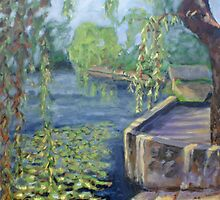 The Argenton River at Argenton-Chateau by Phyllis Dixon