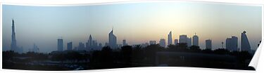 Dubai at sunset by AravindTeki