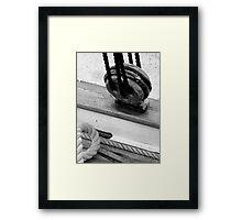 WOODEN DEAD EYE Framed Print