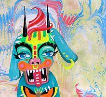 Suminagashi Monster no.1 by Katherine O'Harrow