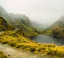 Lake Harris in fog by bonsta