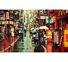 Kichijoji Backroad in the Rain Photographic Print