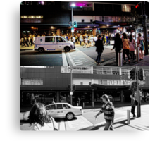 Like Night and Day - Darlinghurst Rd - 2009 Portfolio Project Canvas Print