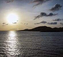 Sunset in St. Maarten by fullpruf