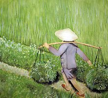 Morning in the Rice Fields by Beth A