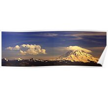 Lenticular and rotor clouds Poster