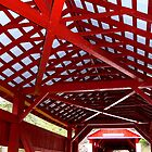 East and West Paden Twin Covered Bridges Interior by Hope Ledebur