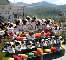Plush puppies for sale by Susan Vogel-Misicka