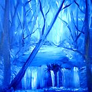 blue trees  by firstglance