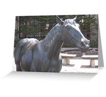 Horse Statue in Towada Japan Greeting Card