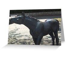 Horse Statue in Towada Aomori Japan Greeting Card