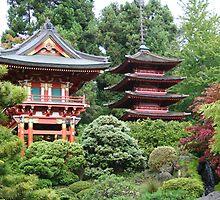 Pagodas by Roxanne Weber