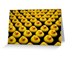 Flock of Yellow Duckies Greeting Card