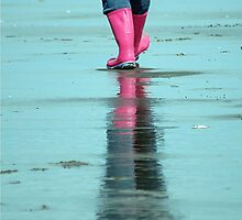 Pink Wellies by Robin Nellist