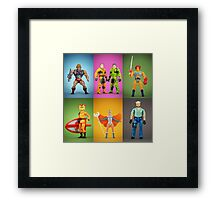 Retro Plastic Framed Print
