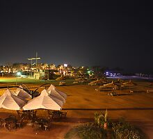 Night shot of the beach in Egypt by sutton68
