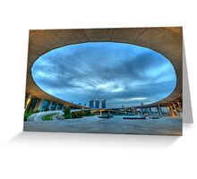 Beneath the Oval Sky Lies 3 Towering Casinos... Greeting Card