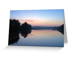 Another Swamp Sunrise Near Home Greeting Card