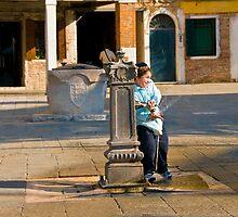 Campo del Ghetto Nuovo Venice by Sheila Laurens