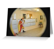 Krazy Klown comes a knocking...  Greeting Card