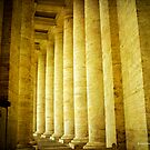 Columned Pasage - St. Peter's Basilica in Vatican City, Rome by David's Photoshop