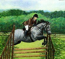 Connemara Pony Hunter Portrait by Oldetimemercan