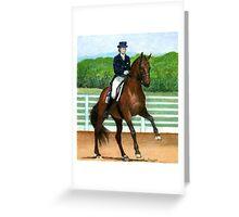 Hanoverian Dressage Horse Portrait Greeting Card