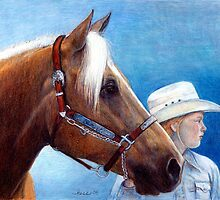 Palomino Quarter Horse Showmanship Class Portrait by Oldetimemercan