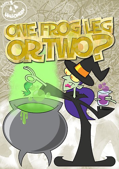 Halloween Poster 2009 - One Frog Leg or Two by Sketchaholic